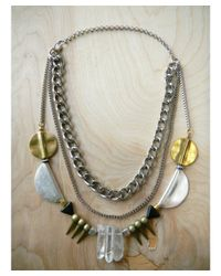 Love Leather - Multicolor Party Rocked Necklace - Lyst