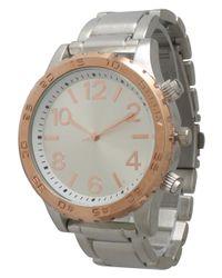 Olivia Pratt - Metallic Rotating Tachymeter Bezel Bracelet Watch for Men - Lyst
