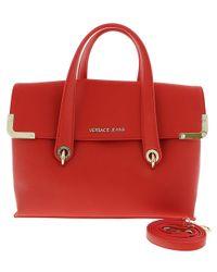 Lyst - Versace Jeans Ee1vrbba5 Red Satchel Bag W  Detachable Strap ... 820e908f4e311