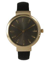 Olivia Pratt - Blue Sleek Leather Cuff Watch - Lyst