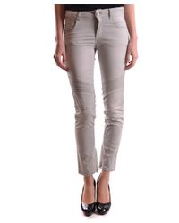 Twin Set - Gray Women's Grey Cotton Pants - Lyst