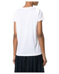 Fabiana Filippi - Women's White Cotton T-shirt - Lyst
