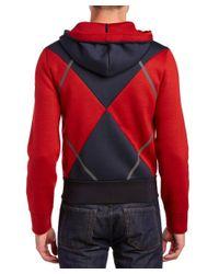 Moncler - Red Wool Zip Sweatshirt for Men - Lyst