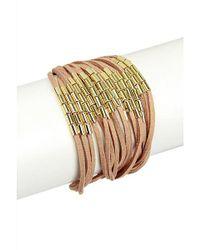 Saachi - Natural Suede String Bracelet - Lyst
