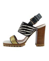 Marni - Multicolor Samsu03g11 Women Open Toe Leather Multi Color Sandals - Lyst