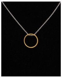 Argento Vivo - Black 18k Two-tone Over Silver Necklace - Lyst