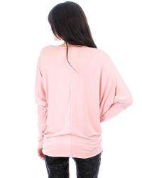 Fashion Club Usa - Pink Dolman Sleeve Top - Lyst