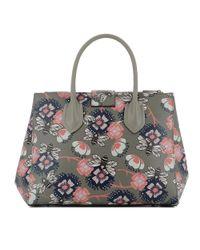 Furla - Gray Women's Grey Leather Handbag - Lyst