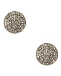 Adornia - Metallic Champagne Diamond And Sterling Silver Imogen Stud Earrings - Lyst
