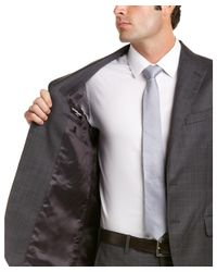 Saint Laurent - Gray Wool Suit With Flat Front Pant for Men - Lyst