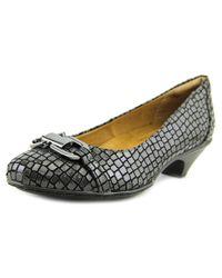 Softspots - Sahara Women Round Toe Synthetic Gray Heels - Lyst