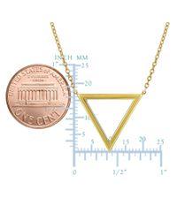 JewelryAffairs - 14k Yellow Gold Triangle Delta Symbol Pendant Necklace, 18 - Lyst
