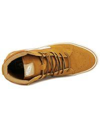 Vans - Brown Sk8-hi Lite Men Round Toe Canvas Skate Shoe for Men - Lyst