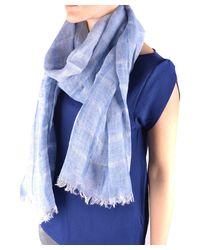 Altea - Women's Light Blue Linen Scarf - Lyst