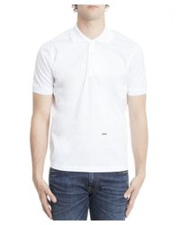 DSquared² - Men's S71dm0076s44131100 White Cotton Polo Shirt for Men - Lyst