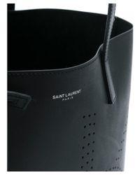 Saint Laurent - Men's Black Leather Tote - Lyst