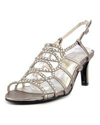 Caparros - Metallic A-list Women Open Toe Leather Sandals - Lyst