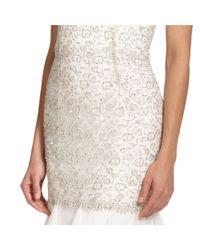 Aidan Mattox - White Embellished Layered Trumpet Evening Gown - Lyst