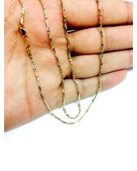 JewelryAffairs - Multicolor 14k 2 Tone Yellow & White Gold Sparkle Chain Necklace, 1.5mm, 16 Inch - Lyst