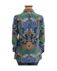 Etro - Women's Green Silk Shirt - Lyst