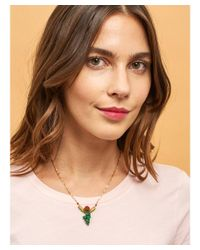 Les Nereides - Multicolor Chimera Plant Bunch Of Beads With Red Fruit And Green Grape Short Necklace - Lyst