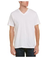 Original Penguin - White Set Of 3 Classic Fit V-neck T-shirt for Men - Lyst
