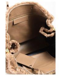 "Balenciaga - 1 Light Brown Merino Wool & Leather ""papier B4 Zip Around"" Tote Bag - Lyst"