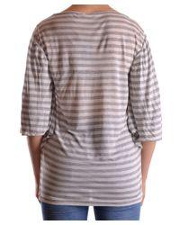 John Galliano - Gray Women's Grey Viscose Top - Lyst