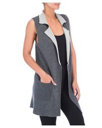 Bobeau - Gray Plus Size Jasper Double Faced Vest - Lyst