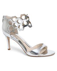 Carolinna Espinosa - Gray Safiya Leather Sandal - Lyst