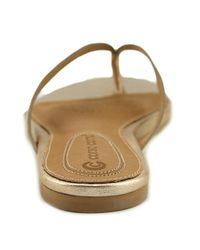 Corso Como | Metallic Volley Women Open Toe Leather Bronze Thong Sandal | Lyst