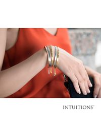 JewelryAffairs - Multicolor Intuitions Stainless Steel Follow Your Heart Diamond Accent Adjustable Bracelet - Lyst