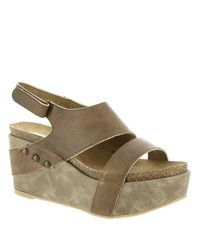 Volatile - Brown Womens Avril Leather Open Toe Special Occasion Platform Sandals - Lyst
