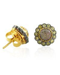 Socheec - Metallic Ice Diamond Stud Earrings - Lyst