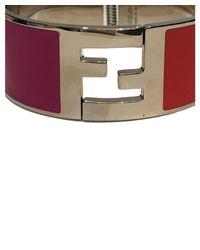 Fendi - Metallic Women's Silver Metal Bracelet - Lyst