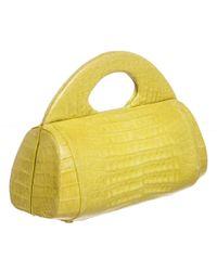 Nancy Gonzalez - Yellow Crocodile Hard Framed Tote Bag - Lyst