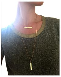 April Soderstrom Jewelry - Metallic Slab Necklace - Lyst