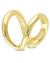 Catherine Malandrino - Metallic 18k Yellow Gold Plated Open Wrap Ring - Lyst