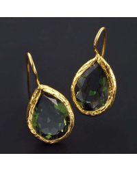 Jewelista - Multicolor 18k Gold Plate & Green Quartz Earrings - Lyst