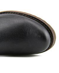 Frye - Veronica Shortie Women Round Toe Leather Black Boot - Lyst