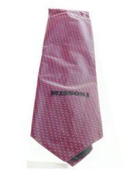 Missoni - U5069 Red/purple Pin Dots 100% Silk Tie for Men - Lyst