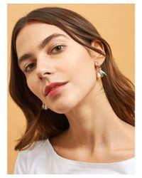 Les Nereides - Multicolor Loves Animals Hummingbird And Stone Earrings - Lyst