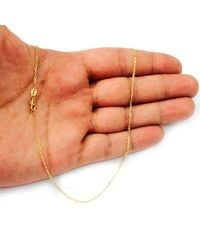 JewelryAffairs - 14k Yellow Gold Cable Link Chain Necklace, 1.4mm, 18 Inch - Lyst