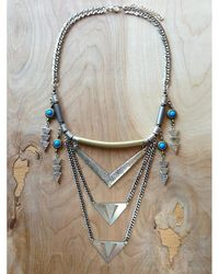 Love Leather - Multicolor Royal Shield Necklace - Lyst