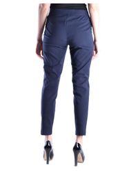 Tory Burch | Women's Mcbi296003o Blue Cotton Pants | Lyst