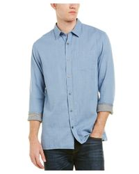 Vince - Blue Square Hem Shirt for Men - Lyst