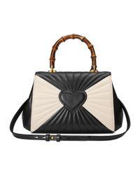 Gucci - Women's White/black Leather Handbag - Lyst