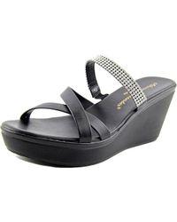 Callisto - Black Modelle Women Open Toe Synthetic Wedge Sandal - Lyst