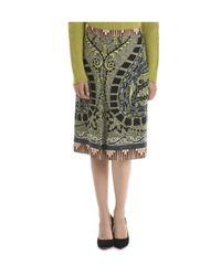 Etro - Green Women's Multicolor Viscose Skirt - Lyst