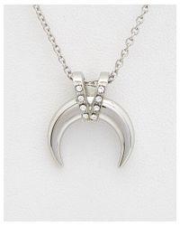 Rebecca Minkoff - Metallic Crystal Horn Necklace - Lyst